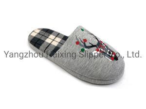 La mujer zapatillas para el invierno en el interior dormitorio zapatillas con ciervos Imprimir