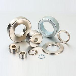 N35 sinterizado delgado anillo de imanes de NdFeB