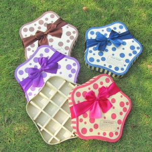 Star-Shaped Doos van de Chocolade van de Doos van het Suikergoed van het Karton met Bowknot