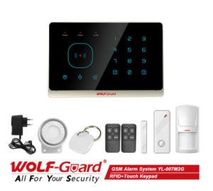 Tastiera di 2016 allarme senza fili di obbligazione domestica di GSM della nuova RFID+Touch (YL-007M2G)