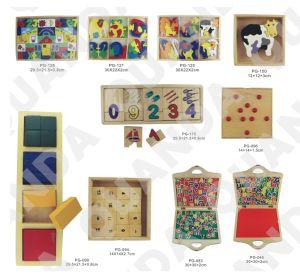 Erstklassiger hoher Block und hölzerne Puzzlespiel-Kästen für Kinder