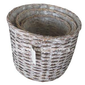 Настраиваемые экологически чистые природные тканого ивы Flowerpot для сада украшения