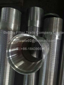 Gelaste Scherm van de Groef van het Roestvrij staal van de hoge Precisie het MiniDraad als Element van de Filter