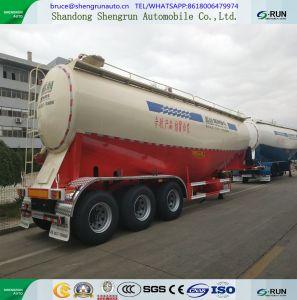 결합된 디젤 엔진 및 공기 압축기를 가진 55 Cbm 시멘트 탱크 트레일러