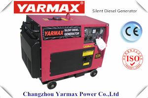 Rifornimento diesel silenzioso diesel dell'OEM del generatore del generatore 6500W 6kw 6.5kw di Yarmax 6000