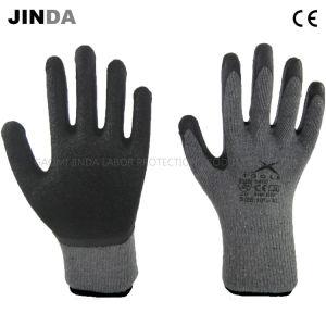Shell van het Garen van het latex de Kreuk Met een laag bedekte 10g Gebreide Handschoenen van het Werk van de Veiligheid