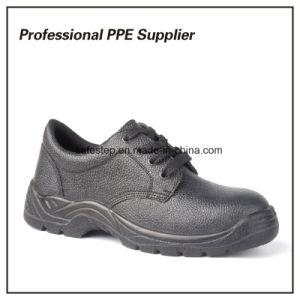 Auténtico Cuero Negro barato Zapatos de seguridad