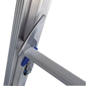 (375LBS) Scaletta di estensione Grooved delle rotaie 2-Section del Singolo-Lato della lega di alluminio