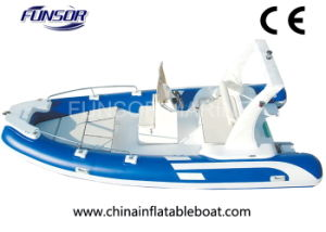 Bateau de pêche gonflable de côte de Funsor avec du ce d'UE (FQB-R550)