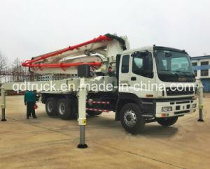 il camion concreto della pompa dell'asta di 37m ISUZU, romba camion della pompa per calcestruzzo