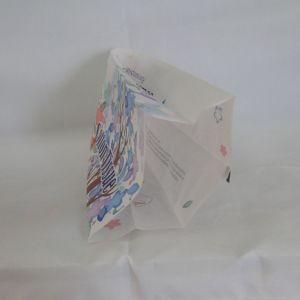 Laminados de tejido de algodón bolsa de plástico con sellado central