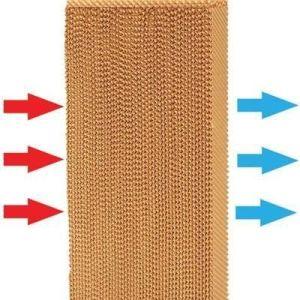 Pente de mel a celulose de resfriamento evaporativo papel pad