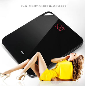 Le poids corporel numérique portable Échelle de la salle de bains MD-02