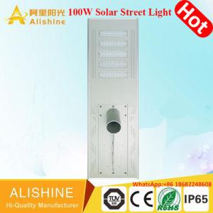 LED de 100W de luz de calle solar integrada con LiFePO4 Batería de litio