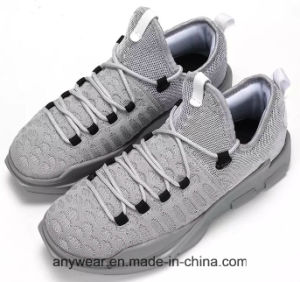 Deportes de moda Zapatillas con suela de PU Superior Flyknit zapatillas para hombres (353)
