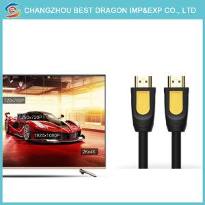5m Gold überzogenes umsponnenes Nylonkabel des Ineinander greifen-1.4V HDMI für HDTV