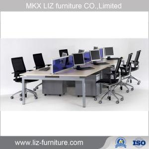 Muebles de oficina modernos forma redonda de 4 plazas armario de la estación de trabajo de 2079