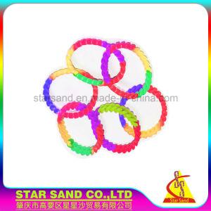 Catena promozionale all'ingrosso di torsione del silicone, Wristband della treccia, braccialetti del Mens del silicone