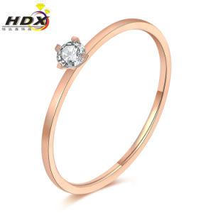 형식 보석은 둥글게 된다 스테인리스 다이아몬드 숙녀 반지 (hdx1151)를
