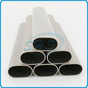 De caras planas de acero inoxidable tubos ovalados (tubos) para la barandilla