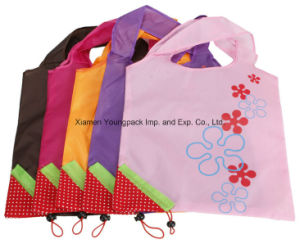 Plegado de Nylon plegable fresas colgantes bolsas Bolso de compras