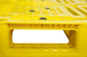 Serviço Pesado de grade seis corredores PEAD reciclado de plástico colorido vermelho palete padrão Size