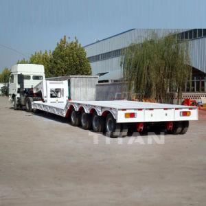 Gooseneck van de titaan het Afneembare Dek van de Daling de Semi Aanhangwagen van Lowboy van 100 Ton voor Verkoop