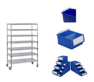Solides et durables Sparte étagère en plastique de pièces Case&Bin avec séparateur
