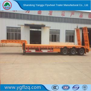 2/3/4 Semi Aanhangwagen van de Vrachtwagen van Lowbed van de As 60t voor Vervoer van de Machines van het Graafwerktuig Op zwaar werk berekende