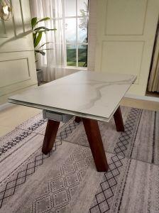 Extensions-moderner Möbel-keramischer festes Holz-Entwurfs-Speisetisch