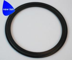 Zwarte Pakking van het Scherm van de tri-Klem van Viton de Sanitaire, (316L Roestvrij staal)