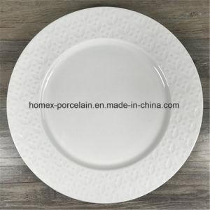 La porcelaine/plaque en céramique avec gaufré