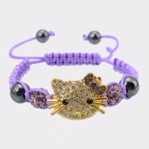 De met de hand gemaakte Leuke Armband van de Pot van de Kat van Kinderen Hello