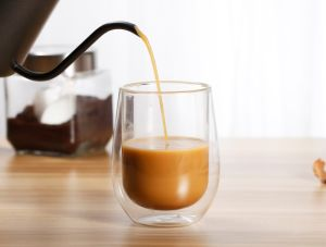 Verre borosilicaté double paroi en verre de l'Espresso tasse de thé, Expresso, le lait, tasse de café