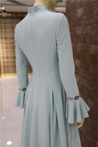 Élégant Abaya musulman en mousseline robe longue tenue vestimentaire islamique à manchon long pour les femmes&Mesdames
