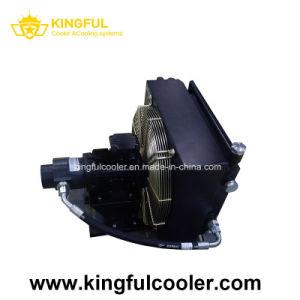 Personnalisé refroidi par air du refroidisseur d'huile hydraulique avec moteur et ventilateur