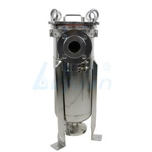 SS304/316 Aço Inoxidável líquido do alojamento do filtro e saco de água do alojamento do filtro para filtração do vinho