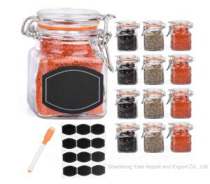 Le verre Pot de rangement avec boucle en pots de verre pour le stockage d'épices