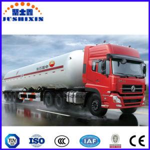 58.5cbm de Semi Aanhangwagen van het Vervoer van de Brandstof van de Ruwe olie van 3 As