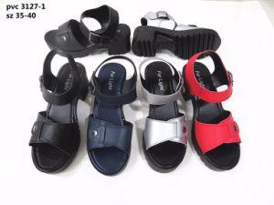 Sandalia de mujer zapatos de moda los zapatos al aire libre (YG3127-1)