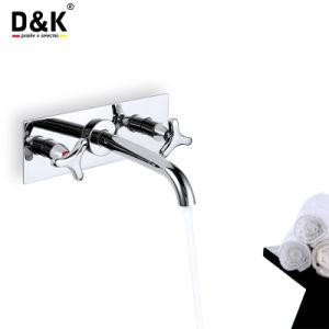 二重レバーの高品質の普及したクロムによってめっきされる壁の洗面器のミキサー