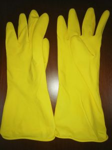Защитные перчатки из латекса 55g желтый домашних хозяйств, резиновые перчатки, резиновые перчатки, вещевого ящика