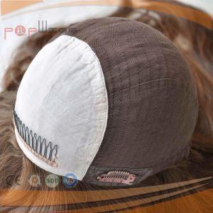 美しい人間のブラウンカラー毛のユダヤ人のかつら(PPG-l-01437)