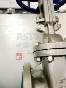 Aço inoxidável fundido roda ANSI VÁLVULA DE GAVETA COM FLANGES