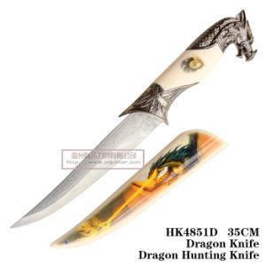 Cuchillos de caza de caballos caballo Cuchillo de supervivencia táctico manejar 35cm HK4851d