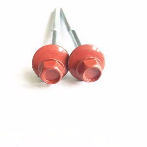 Vis autotaraudeuse à tête hexagonale avec rondelle EPDM plaqué zinc