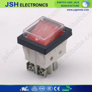 Interruttore di attuatore di Pin Dpdt di Grey 4 di Jsh 250V con indicatore luminoso
