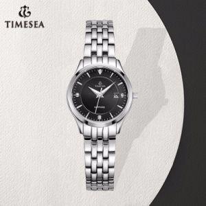 Signora orologio della vigilanza dell'acciaio inossidabile decorato con i Rhinestones 71079