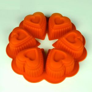 Best Selling Grau Alimentício 6 cavidades do molde de bolo de silicone para Bakeware