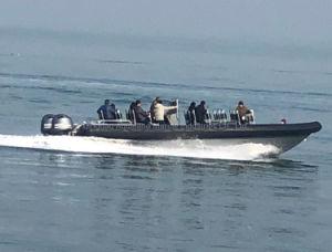 Aqualand 38pies 11.50m 22personas costilla de fibra de vidrio del Motor de velocidad /inflables rígido Patrullera de salvamento del pasajero (RIB1150A)